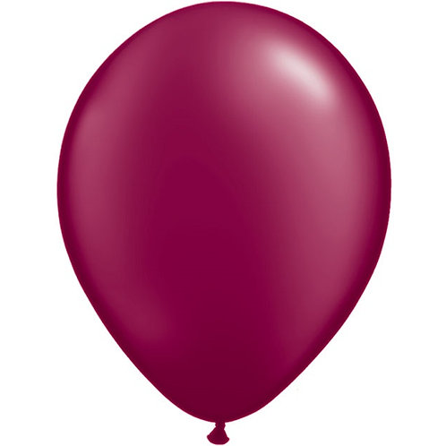 "12"" Metallic Pearl Latex Balloon - Burgundy"
