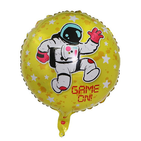 "18"" Game On Astronaut Foil Balloon"