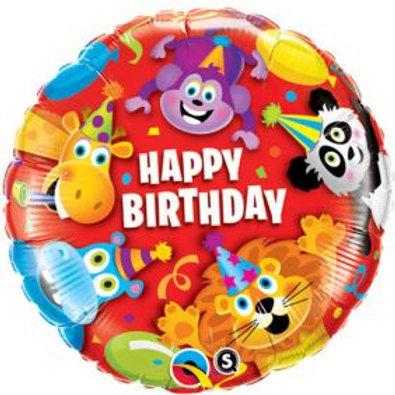 "18"" Birthday Party Animal Foil Balloon"