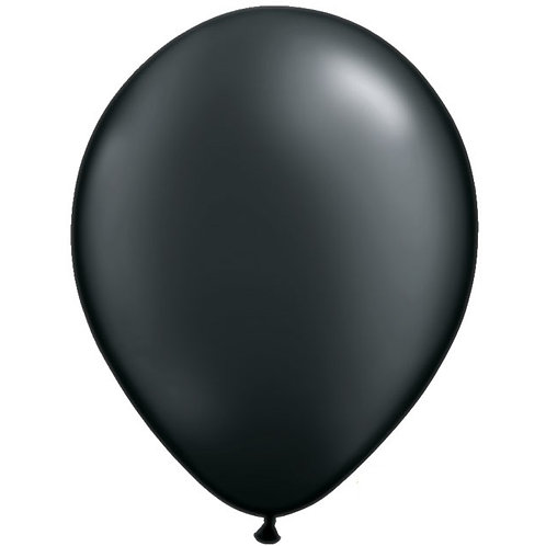 "12"" Metallic Pearl Latex Balloon - Onyx Black"