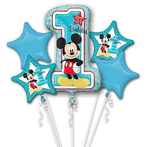 1st Birthday Mickey Mouse Balloon Bouquet