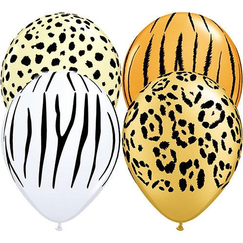 "11"" Safari Printed Latex Balloons"