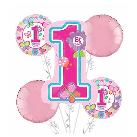 Sweet 1st Birthday Girl Balloon Bouquet