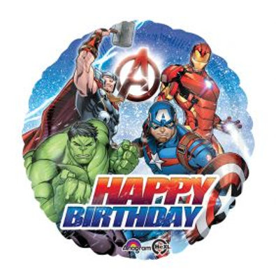 "18"" Avengers Happy Birthday Foil Balloon"