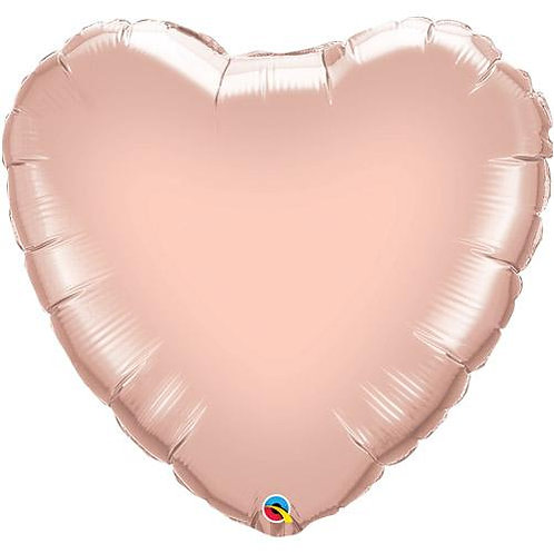 "18"" Heart Foil Balloons - Rose Gold"