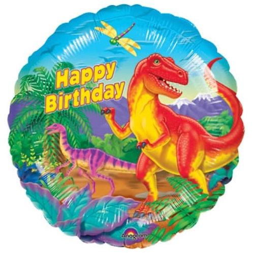"18"" Dinosaur Happy Birthday Party Foil Balloon"