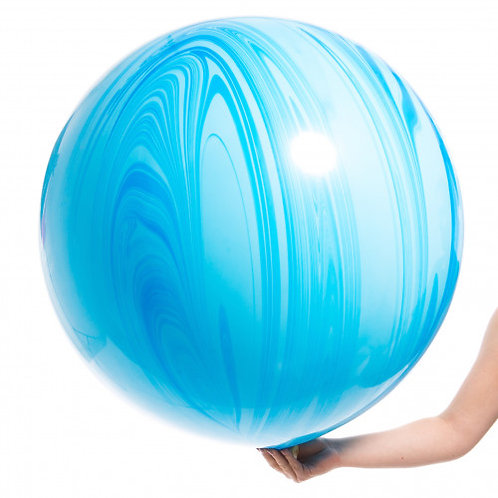 3ft Blue Marble Agate Giant Balloon
