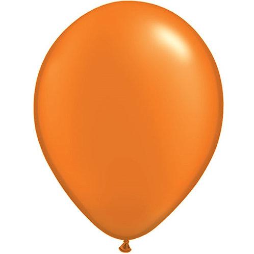 """12"""" Metallic Pearl Latex Balloon - Orange"""