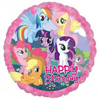 "18"" My Little Pony Happy Birthday Foil Balloon"