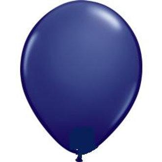 "12"" Standard Latex Balloon - Navy Blue"