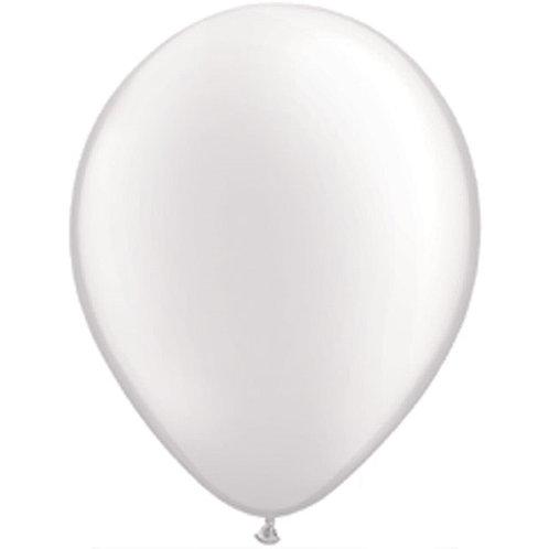 "12"" Metallic Pearl Latex Balloon - White"