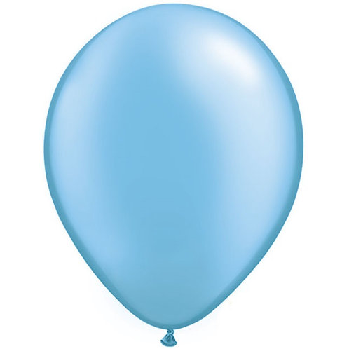 "12"" Metallic Pearl Latex Balloon - Azure Blue"