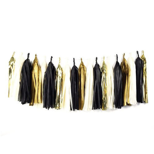 Glam Black Tassel Garland