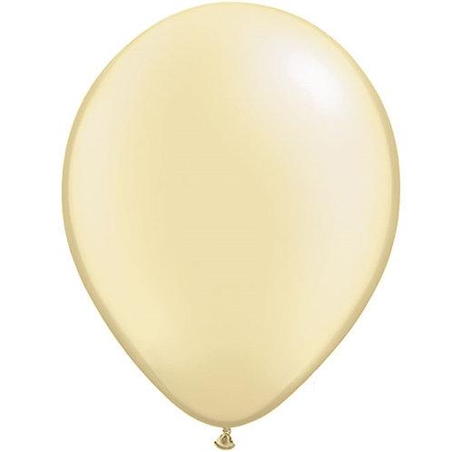 "12"" Metallic Pearl Latex Balloon - Ivory"