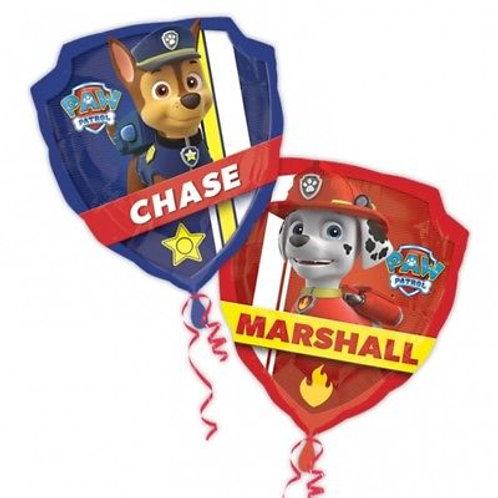 """27"""" Paw Patrol Shield Foil Balloon"""