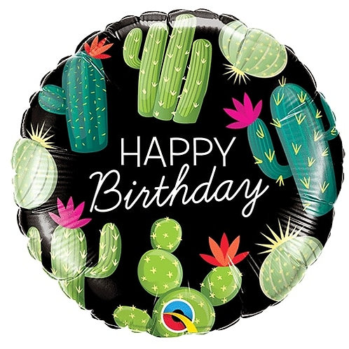 "18"" Dancing Cactus Happy Birthday Foil Balloon"