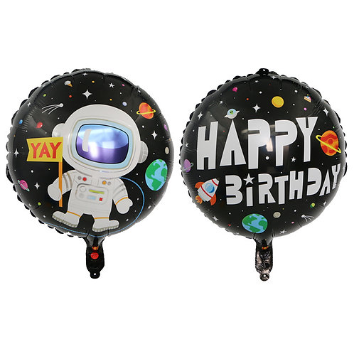 """18"""" Astronaut Happy Birthday Foil Balloon"""