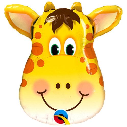 "32"" Jolly Giraffe Head Foil Balloon"