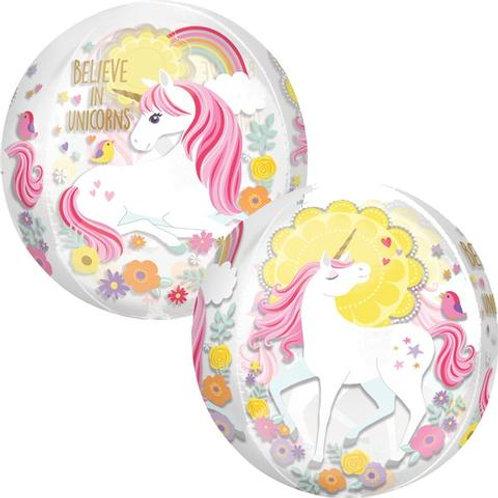 "16"" Magical Unicorn Orbz Balloon"