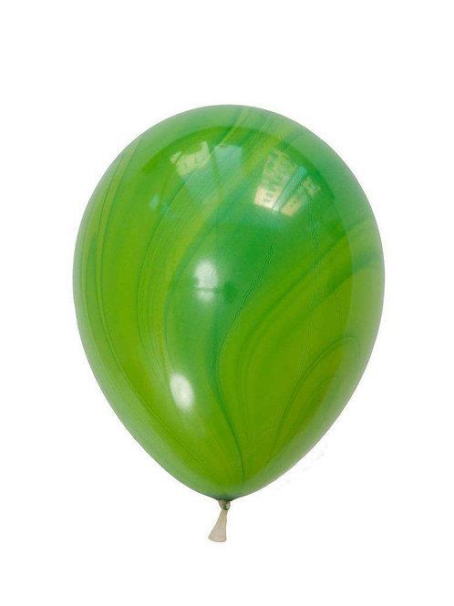 "11"" Green Marble Agate Balloon"