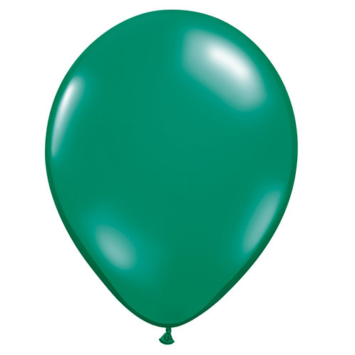 "12"" Jewel Crystal Latex Balloon - Emerald Green"