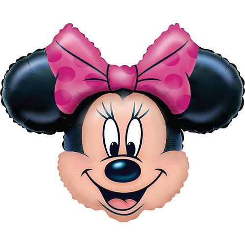 """28"""" Minnie Mouse Head Foil Balloon"""
