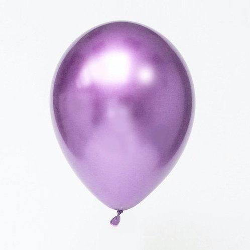 """11"""" Chrome Purple Balloon"""