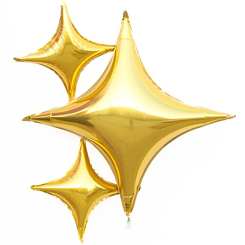 """40"""" Four-Point Star Foil Balloons (4 Colours Available)"""