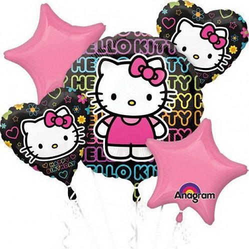 Happy Birthday Tween Hello Kitty Balloon Bouquet