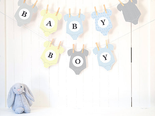 Baby Boy's Clothes Bunting