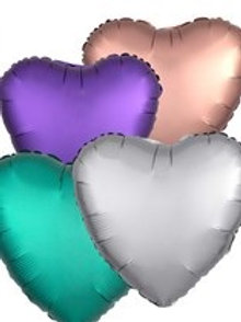 "18"" Satin Luxe Heart Foil Balloons (5 Colours Available)"