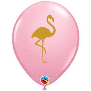 "11"" Flamingo Printed Latex Balloon"
