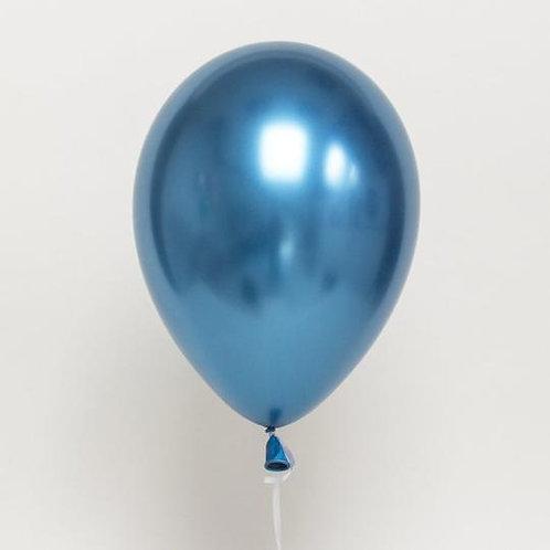 """11"""" Chrome Blue Balloon"""