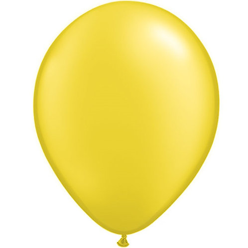 "12"" Metallic Pearl Latex Balloon - Citrine Yellow"