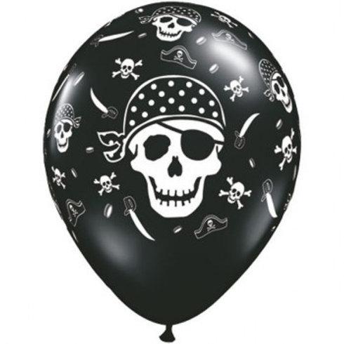 "11"" Pirate Skull & Cross Bone Printed Balloon"