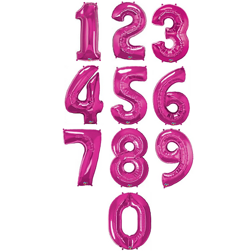 "40"" Pink Number Foil Balloons ( 0-9 )"