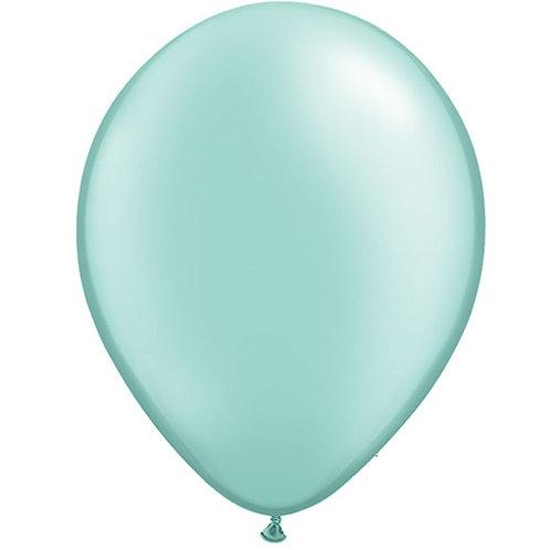"12"" Metallic Pearl Latex Balloon - Mint Green"