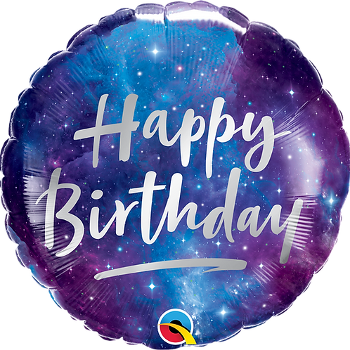 "18"" Galaxy Happy Birthday Foil Balloon"