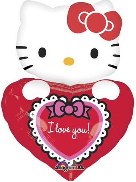 "29"" I Love You Hello Kitty Foil Balloon"