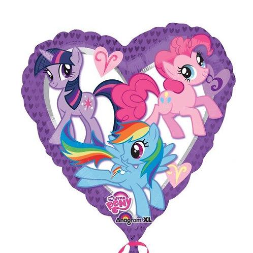 "18"" My Little Pony Heart Foil Balloon"