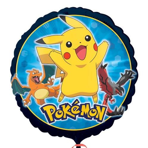 "18"" Pokemon Group Happy Birthday Foil Balloon"