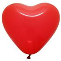 "12"" Red Heart Shaped Latex Balloon"