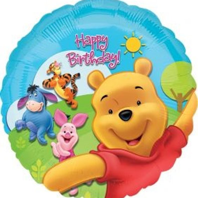 "18"" Pooh & Friends Sunny Birthday Foil Balloon"