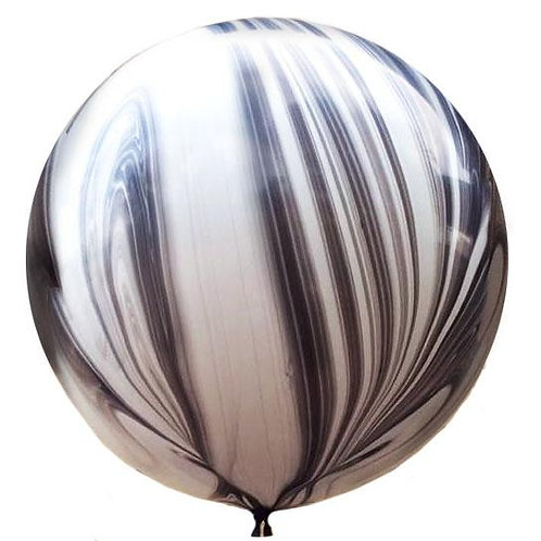 3ft Black Marble Agate Giant Balloon
