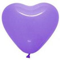 "12"" Lilac Heart Shaped Latex Balloon"