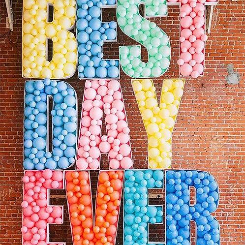 Letter Balloon Mosaic