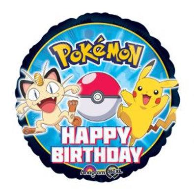 "18"" Pokemon Happy Birthday Foil Balloon"