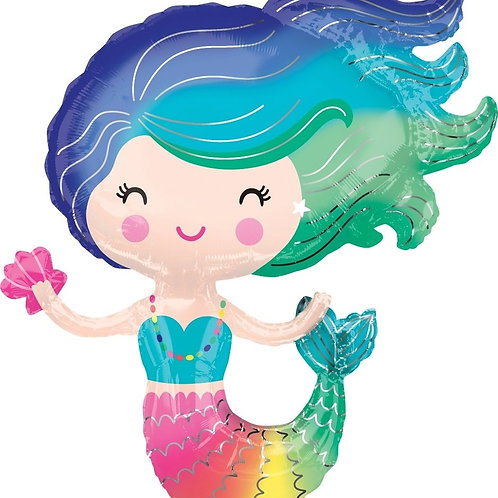 "30"" Rainbow Mermaid Foil Balloon"
