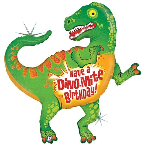 "42"" Have A Dino-Mite B-Day Foil Balloon"
