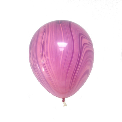 "11"" Pink Purple Marble Agate Balloon"